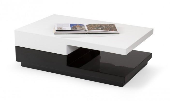 Konfereční stolek - dřevěný Konferenční stolek Montana (bílá/černá)