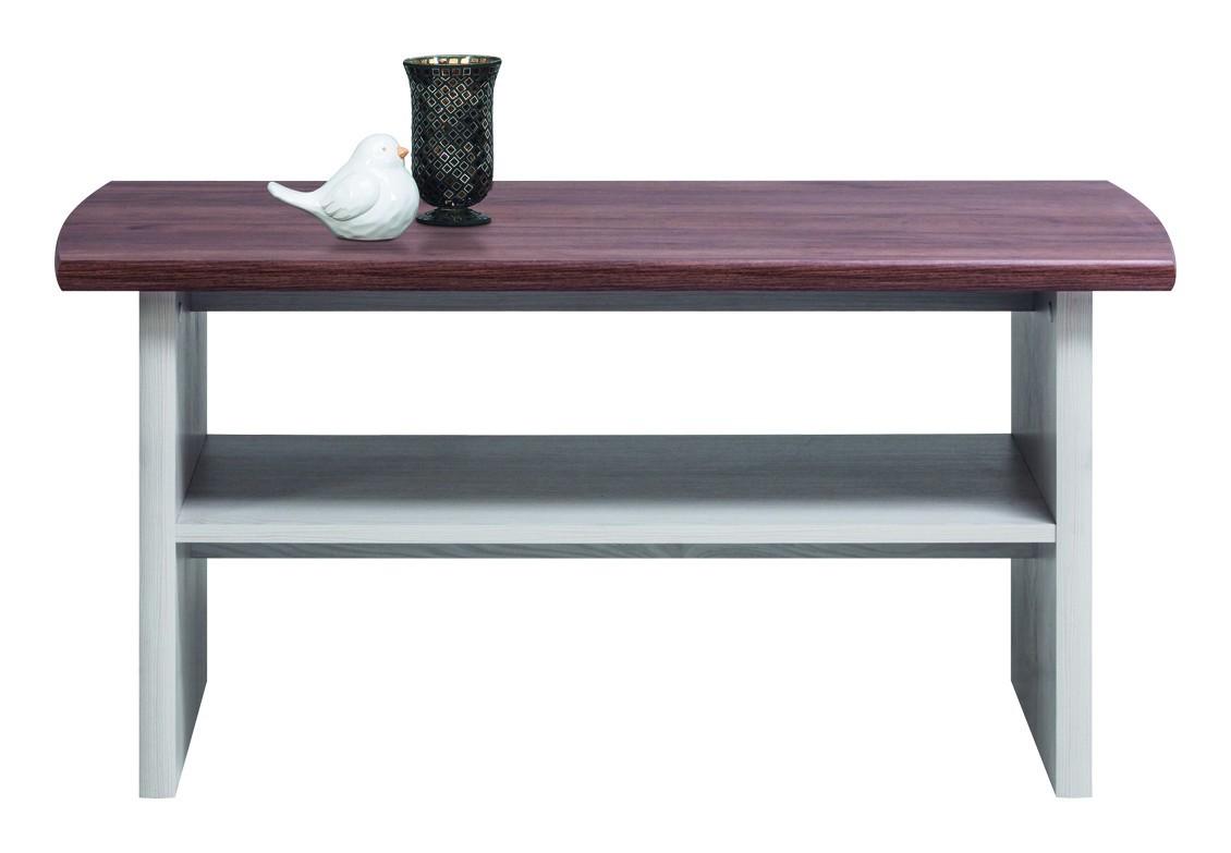 Konfereční stolek - dřevěný Konferenční stolek Moon (modřín sibiřský, dub)