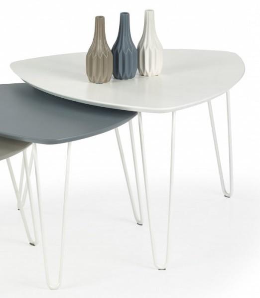 Konfereční stolek - dřevěný Konferenční stolek Nikita  (bílá)