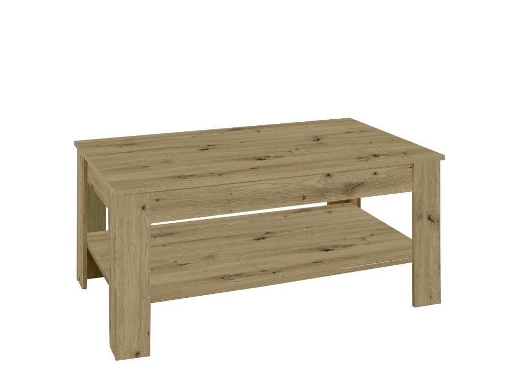 Konfereční stolek - dřevěný Konferenční stolek Nive - obdélník (dub artisan)