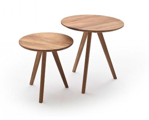 Konfereční stolek - dřevěný Konferenční stolek Olean - set 2 kusů (hnědá)