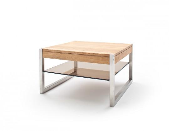 Konfereční stolek - dřevěný Konferenční stolek Saget - 65x38x65 (dub, hnědá)