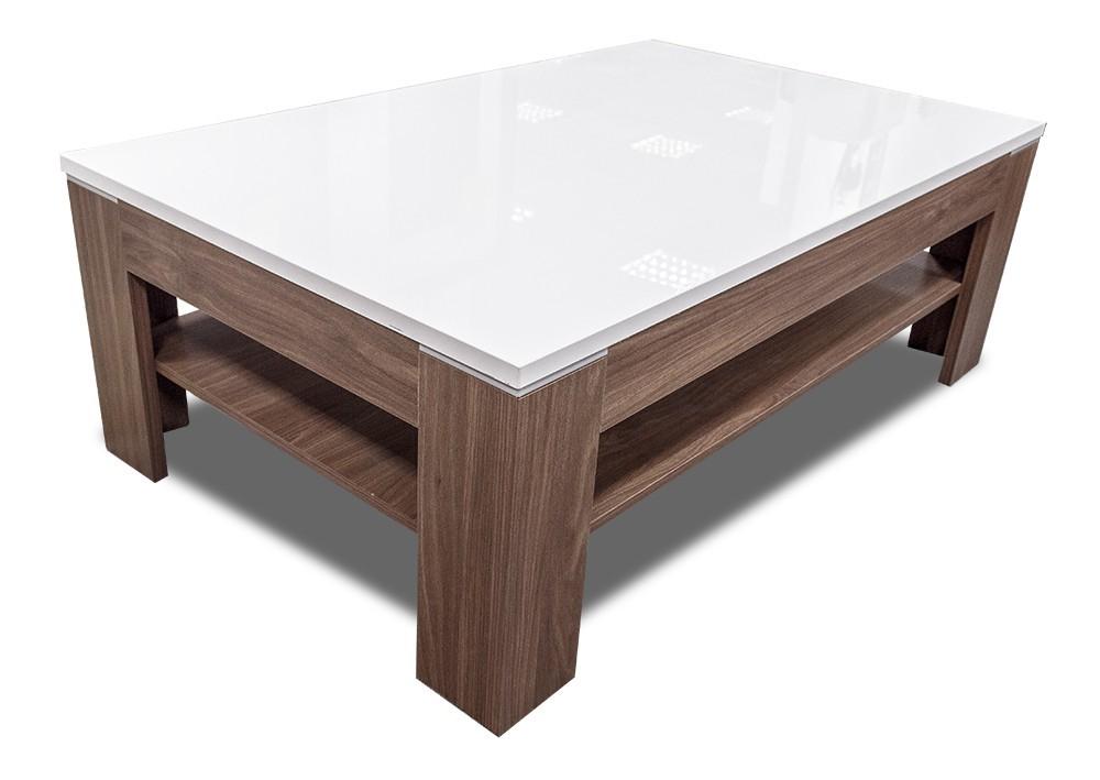 Konfereční stolek - dřevěný Konferenční stolek Saint Tropez-SVOT22 (dub sangalo/bílý lesk)