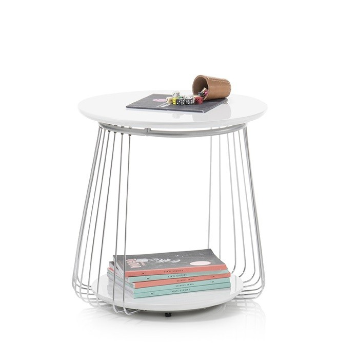 Konfereční stolek - dřevěný Konferenční stolek Selvan - 50x51x50 (bílá)