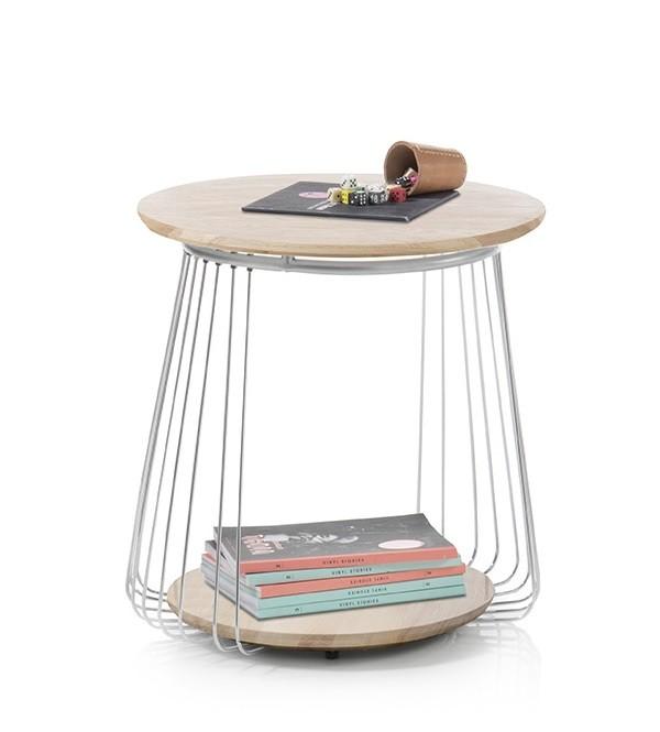 Konfereční stolek - dřevěný Konferenční stolek Selvan - 50x51x50 (dub, hnědá)
