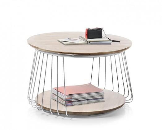 Konfereční stolek - dřevěný Konferenční stolek Selvan - 70x42x70 (dub, hnědá)