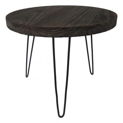Konfereční stolek - dřevěný Konferenční stolek Shape 50x42x50 (tmavé dřevo)