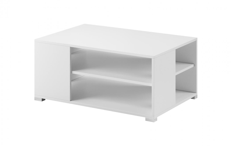 Konfereční stolek - dřevěný Konferenční stolek Simple (bílá, bílá lesk)