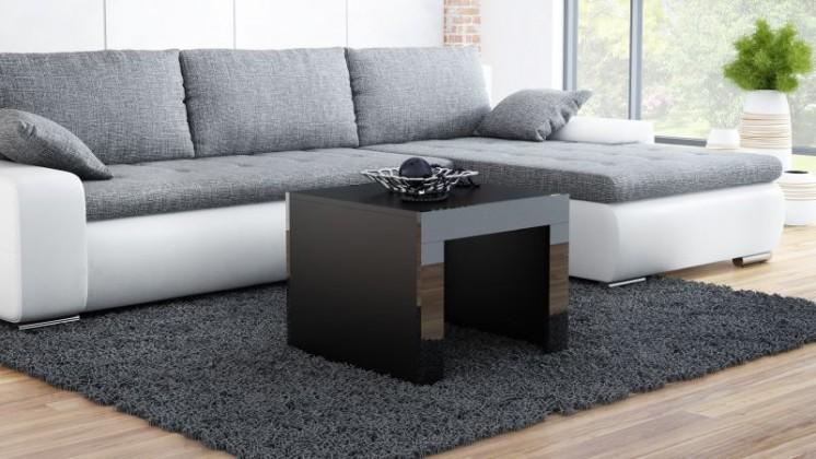 Konfereční stolek - dřevěný Konferenční stolek Tess -  čtvercový (černá)