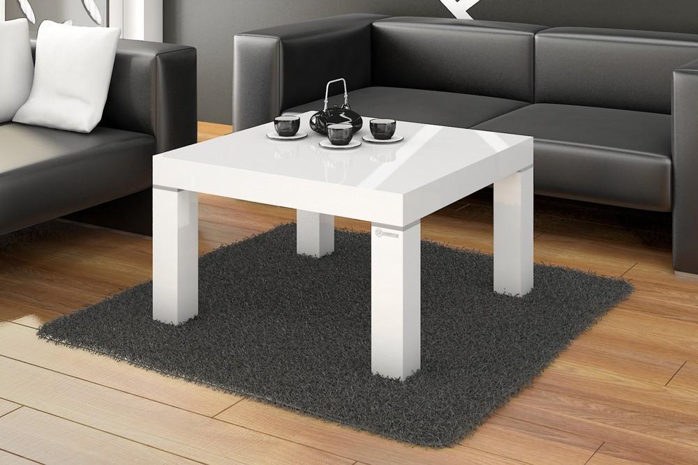 Konfereční stolek - dřevěný KW 80 (bílá lesk)