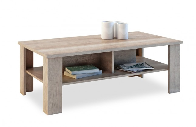 Konfereční stolek - dřevěný Lena - Konferenční stolek (dub monument)