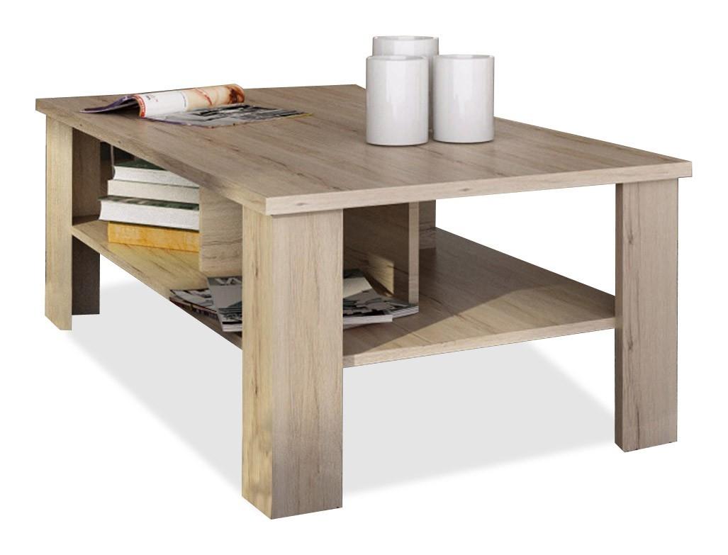 Konfereční stolek - dřevěný Lena - Konferenční stolek (dub san remo)