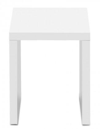 Konfereční stolek - dřevěný Linea - konferenční stolek, 30 cm (bílá)