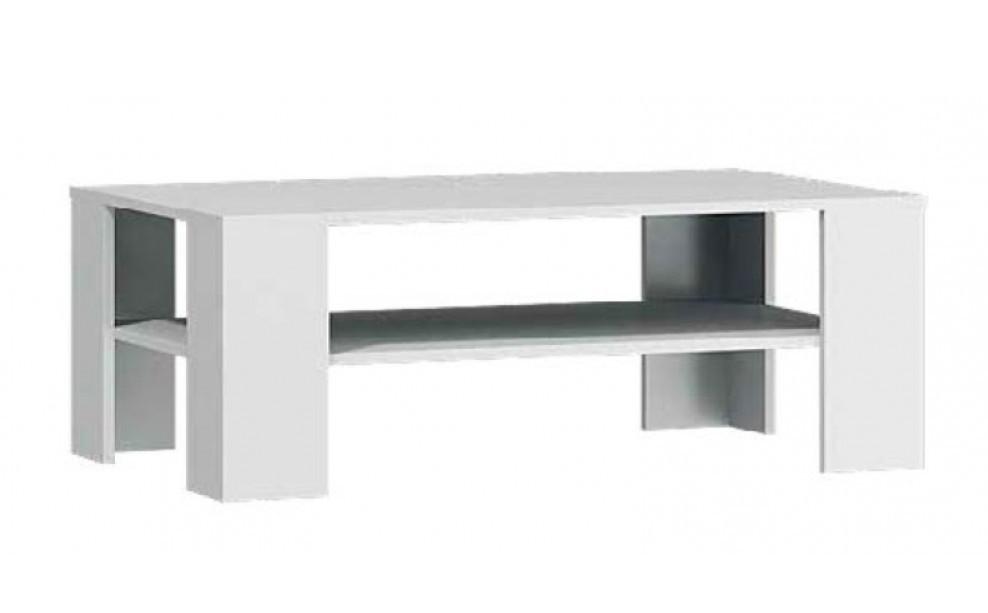 Konfereční stolek - dřevěný Lino - Konferenční stůl (bílá)