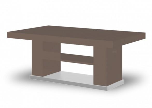 Konfereční stolek - dřevěný Matera 2 (cappucino lesk+wenge)