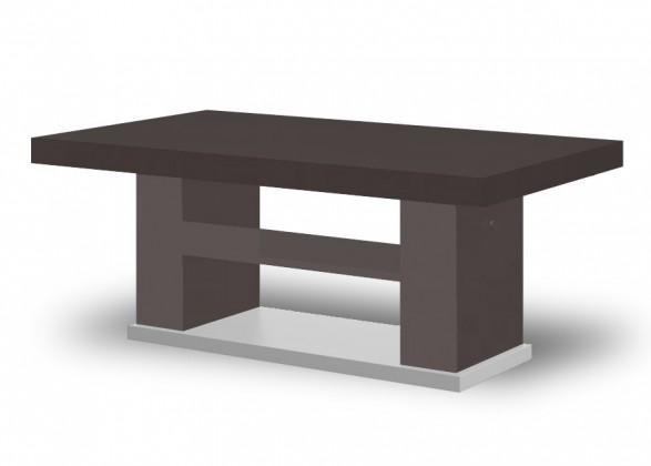 Konfereční stolek - dřevěný Matera 2 (hnědá lesk+wenge)