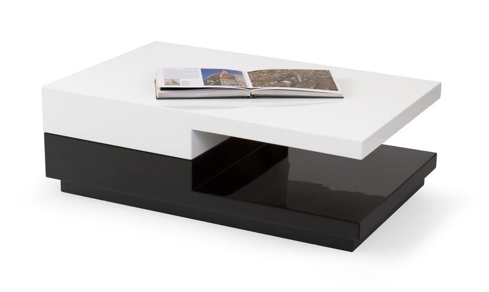 Konfereční stolek - dřevěný Montana (bílá/černá)