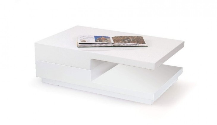 Konfereční stolek - dřevěný Montana (bílá)