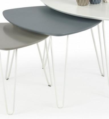 Konfereční stolek - dřevěný Nikita - Konferenční stolek (šedá)