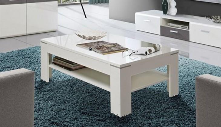 Konfereční stolek - dřevěný Ottawa SVOT22 (Bílá)