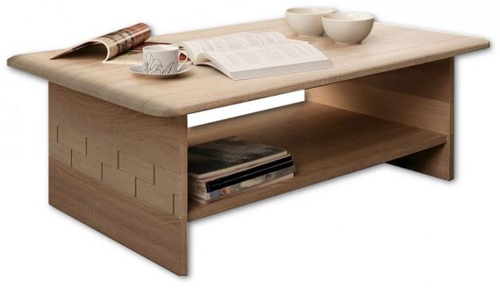 Konfereční stolek - dřevěný Palais PLST01 (Dub sonoma)