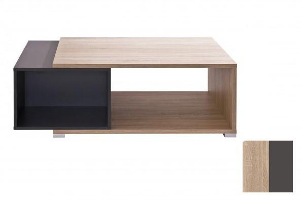Konfereční stolek - dřevěný Preto (Dub Bardolino/Grafit)