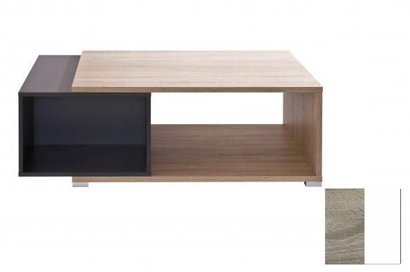 Konfereční stolek - dřevěný Preto (Dub Trüffel/Bílá)