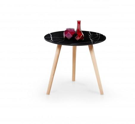 Konfereční stolek - dřevěný Přístavný stolek Aida (černá)