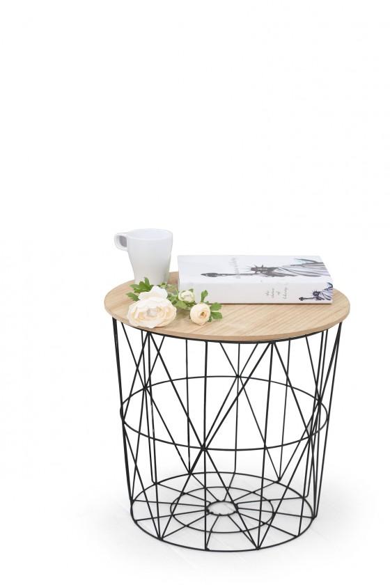 Konfereční stolek - dřevěný Přístavný stolek Mariffa (černá/hnědá)