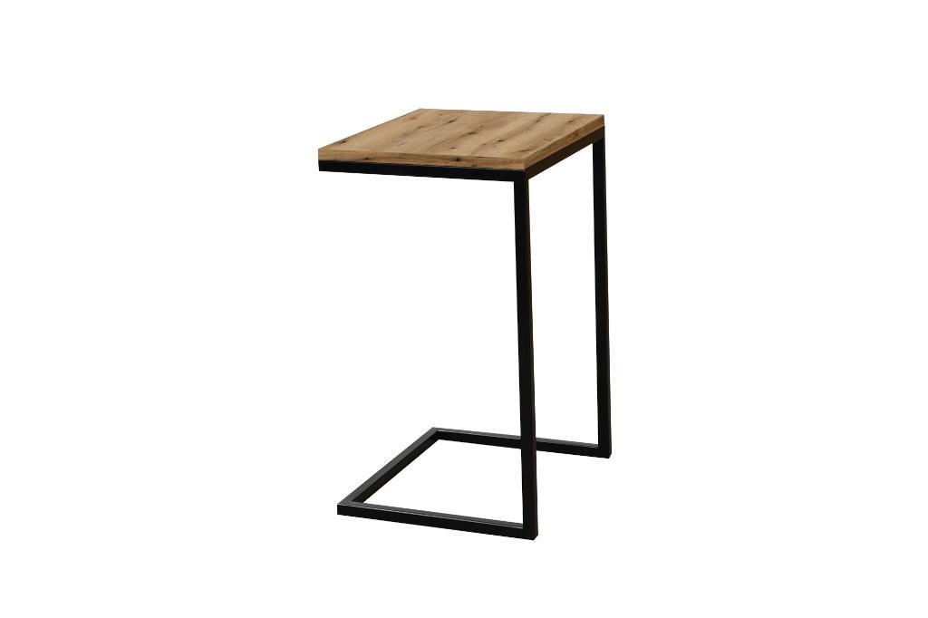 Konfereční stolek - dřevěný Přístavný stolek ST202008 dub / černý