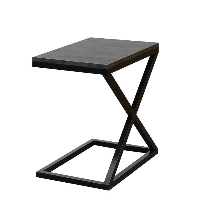 Konfereční stolek - dřevěný Přístavný stolek ST202009 (šedá/černá)