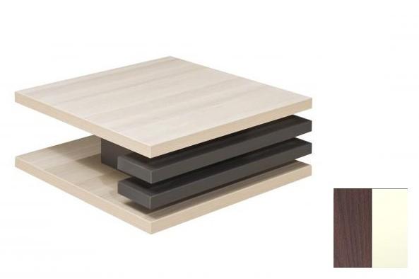 Konfereční stolek - dřevěný Rail 2 (Dub tmavý/Vanilka)