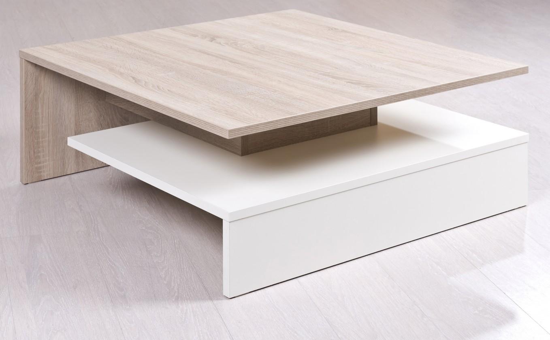 Konfereční stolek - dřevěný Rail (Bardolino/Bílá arctic)