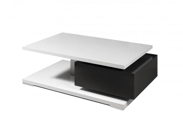 Konfereční stolek - dřevěný Rimini - Konferenční stolek (černá/bílá)