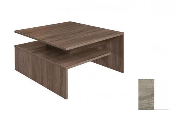Konfereční stolek - dřevěný Selar III (Trüffel/Bílá arctic)