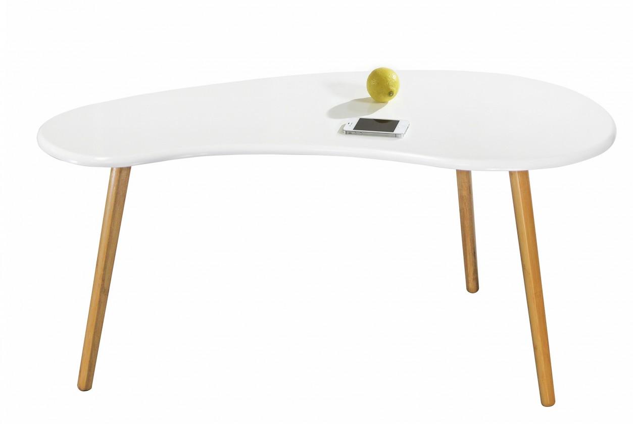 Konfereční stolek - dřevěný Spring 2 - Konferenční stolek (bílá)