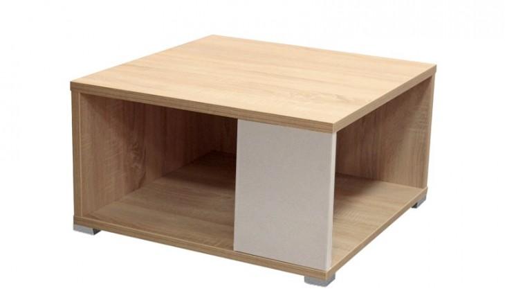 Konfereční stolek - dřevěný Squat (Dub Bardolino/Bílá)