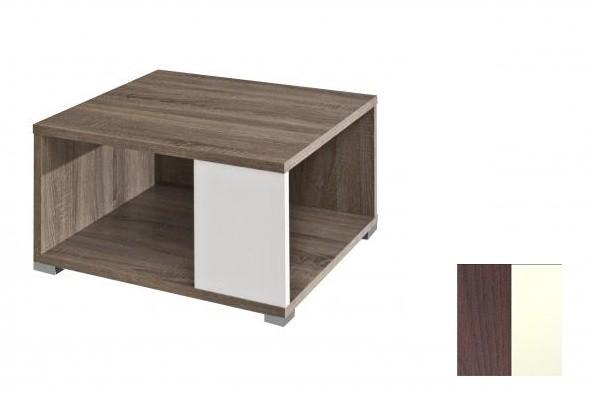 Konfereční stolek - dřevěný Squat (Dub tmavý Wenge/Bílá)