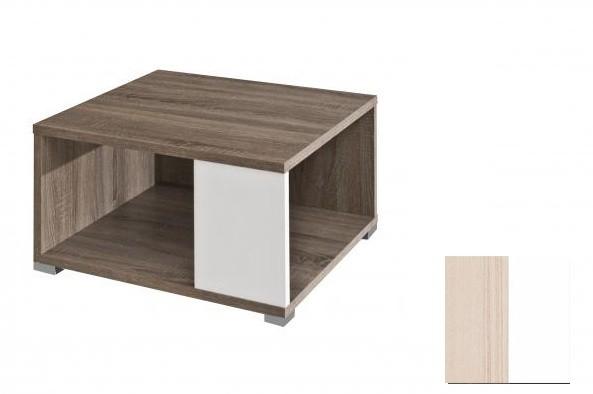 Konfereční stolek - dřevěný Squat (Jasan Coimbra/Bílá)