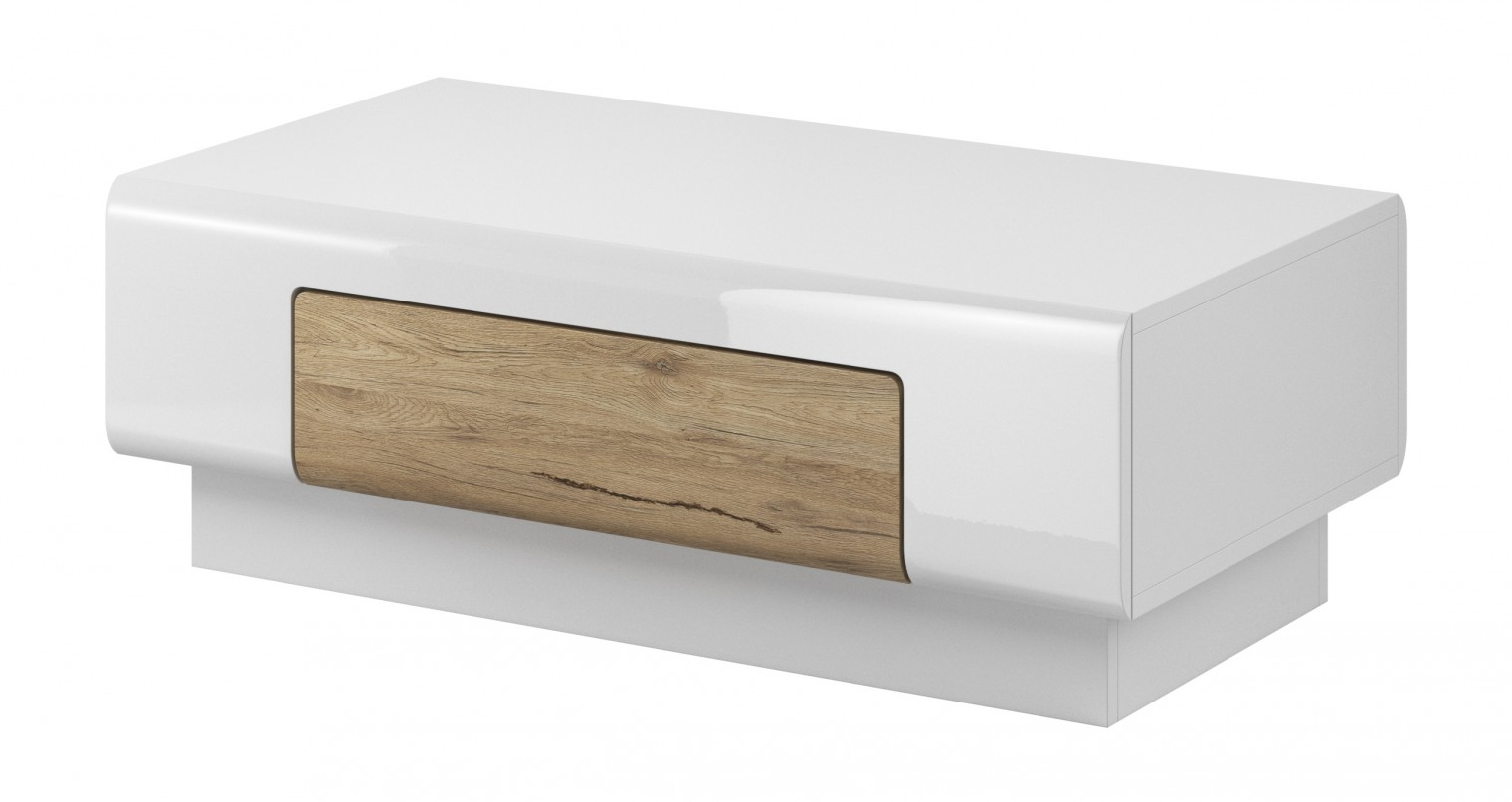 Konfereční stolek - dřevěný Toledo - Konferenční stolek (bílá, dub san remo)