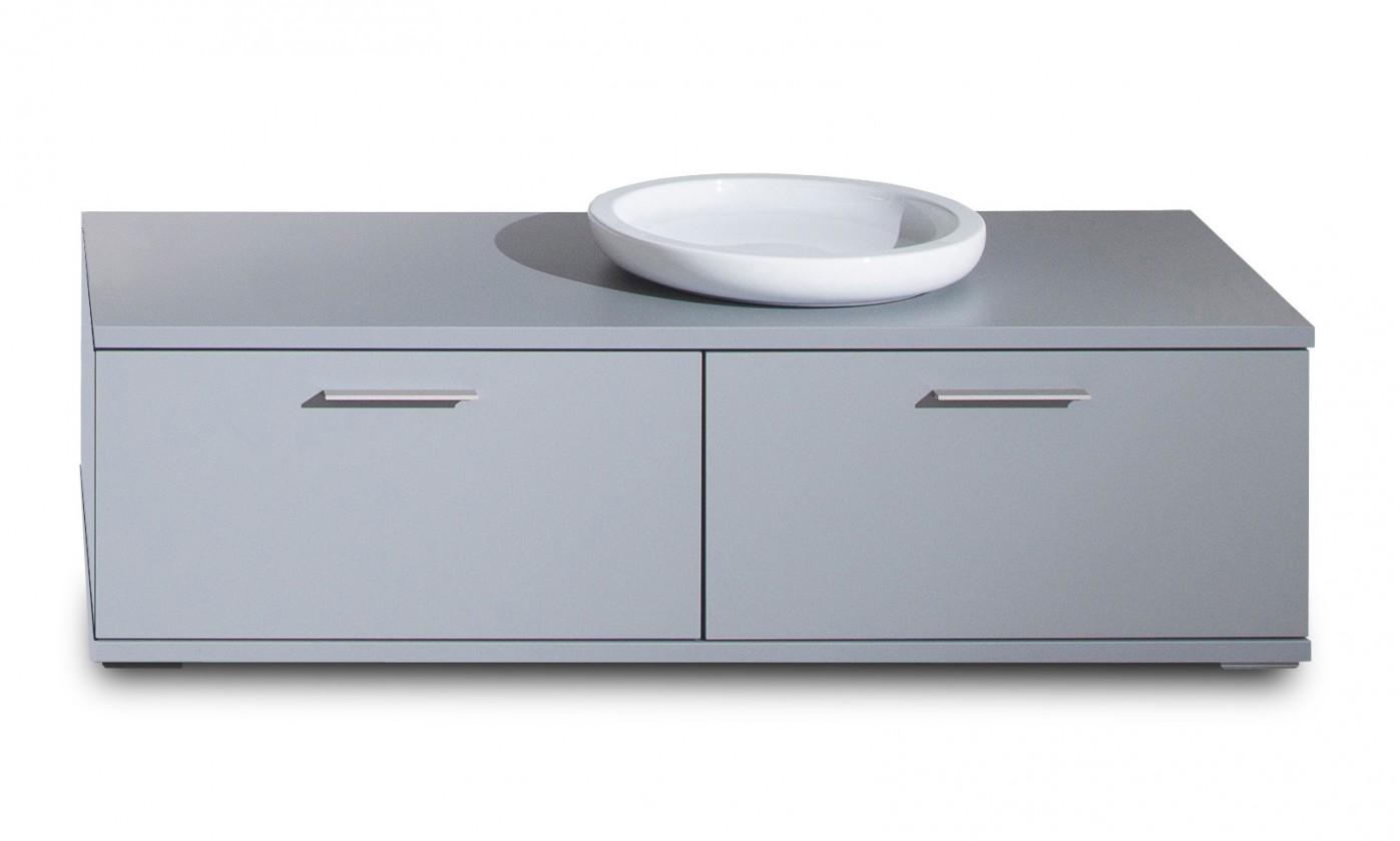 Konfereční stolek - dřevěný Veto - Typ 35 (šedá/šedá supermat)