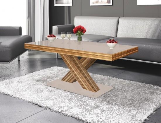 Konfereční stolek - dřevěný Xenon mini (cappucino lesk+sevilla lesk)