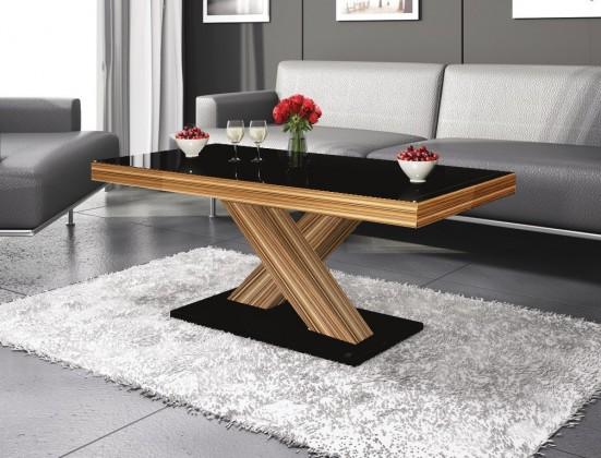 Konfereční stolek - dřevěný Xenon mini (černá lesk+sevilla lesk)