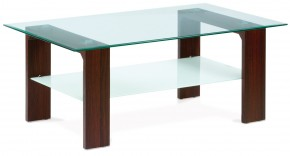 Konferenční stolek AC 237 (ořech/čiré sklo)