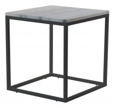 Konferenční stolek Accent - čtverec (mramor, černá)
