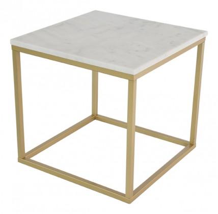 Konferenční stolek Accent - čtverec (mramor, hnědá)
