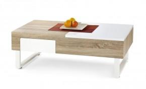 Konferenční stolek Alabama (dub sonoma/ bílá)