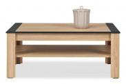Konferenční stolek Anita - NA 11 (dub sonoma/bílá lesk, grafit)
