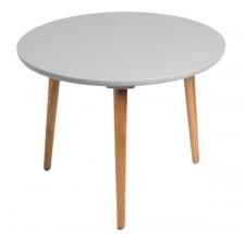 Konferenční stolek Bergen - střední (šedá deska/dub nohy)