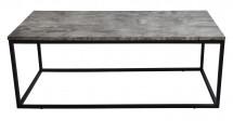 Konferenční stolek Beside - černé nohy (kov, lamino)